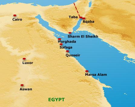 Cartina Turistica Egitto.Come Scegliere La Destinazione Sul Mar Rosso Piu Adatta A Voi