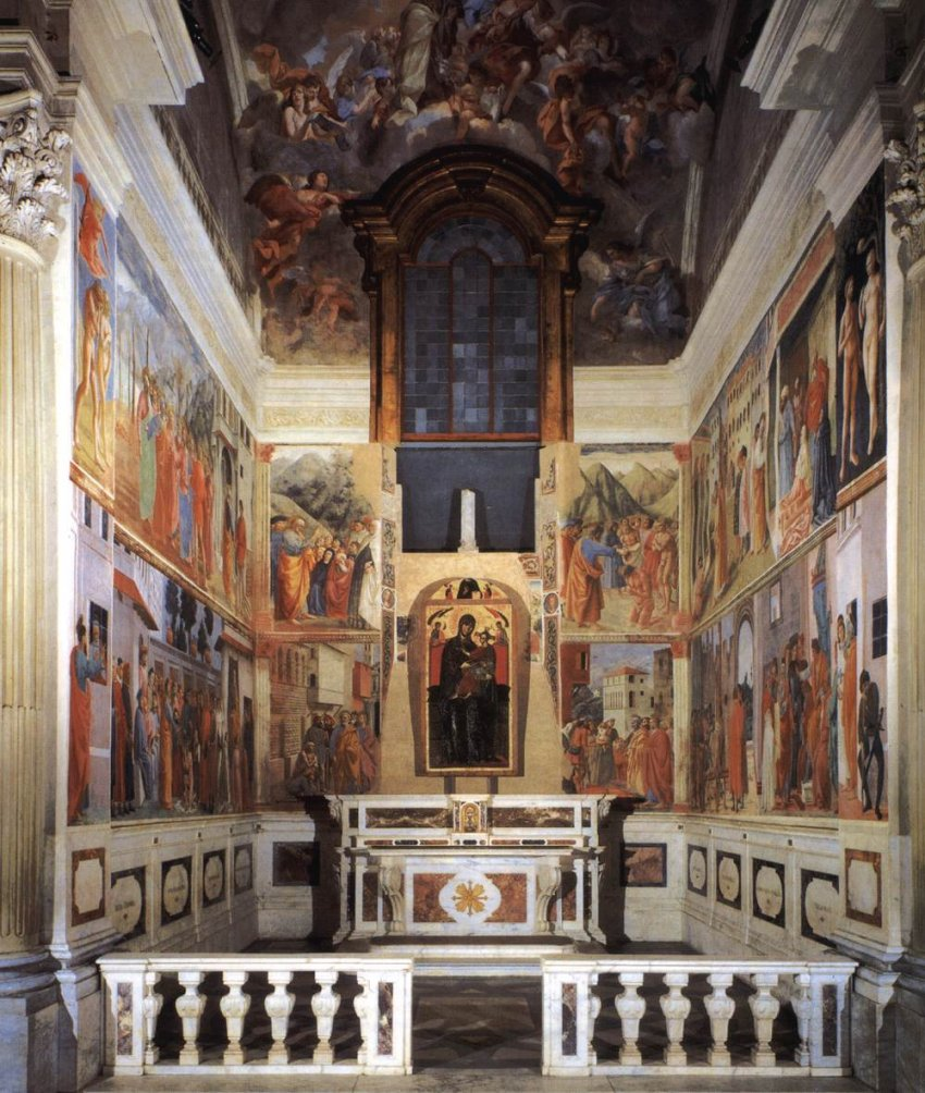 Gli affreschi della cappella brancacci in santa maria del for Decorazione quattrocentesca della cappella sistina