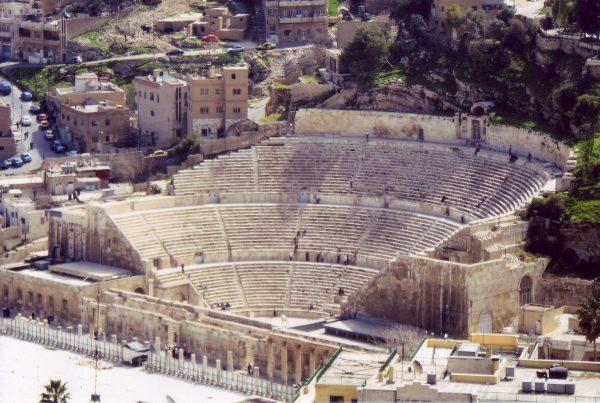 Veduta del teatro romano di Amman, Giordania
