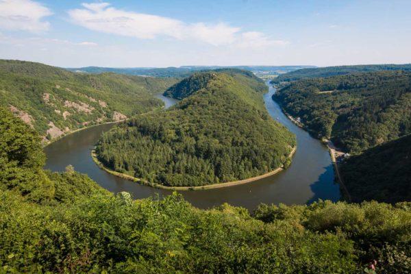 La Saarschleife (meandro del fiume Saar in Germania) #fotospettacolari