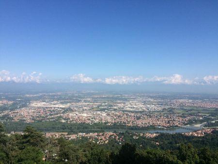 Veduta panoramica dalla cupola della Basilica di Superga (Torino)